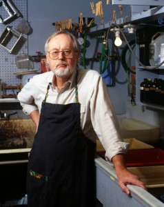 Dick Arentz, Photographer and Teacher in his Darkroom