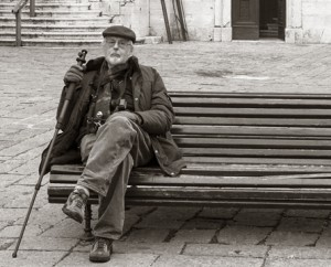 Dick Arentz in Venice during one of his Photography Travel Tours