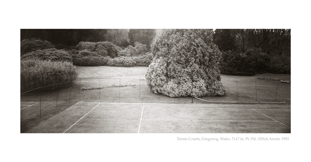 Tennis Courts, Gregynog, Wales - British Isles