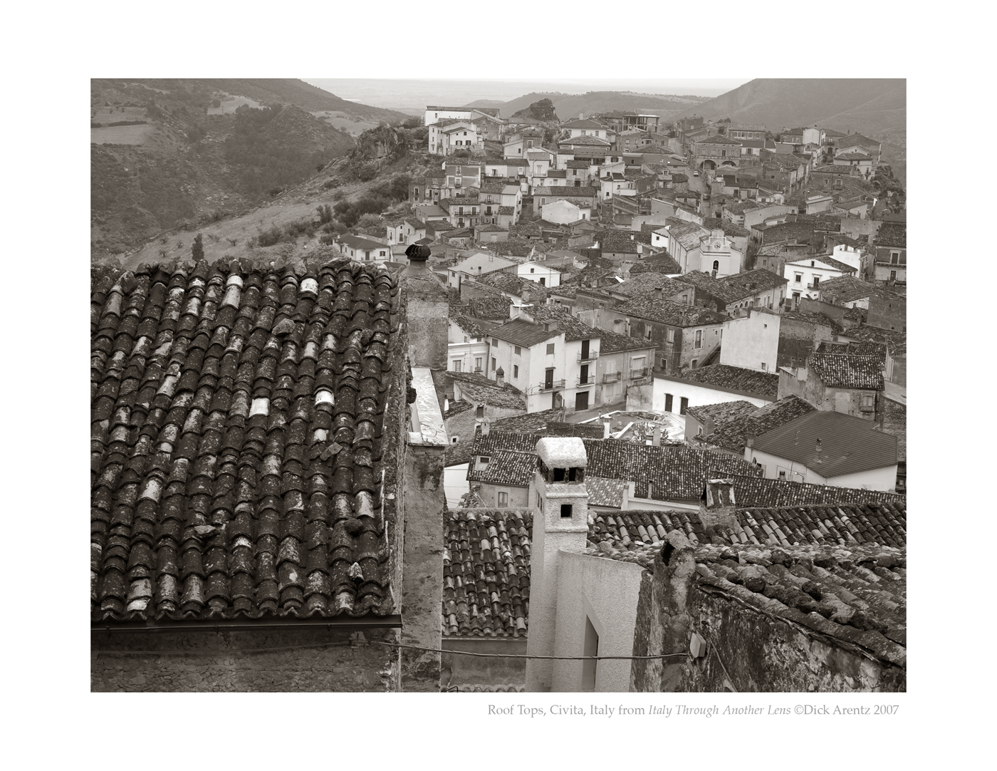 Roof Tops, Civita, Italy - Italy Through Another Lens
