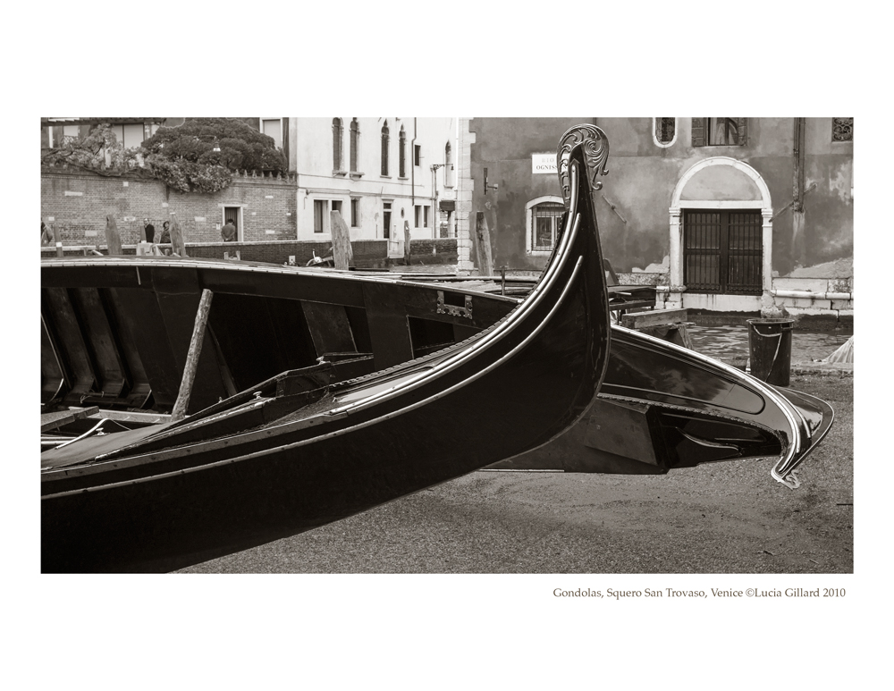Gondolas, Squiero San Trovaso - Venice in Winter