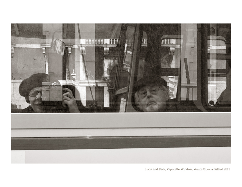 Lucia and Dick, Vaporetto Windows - Venice in Winter (back cover)