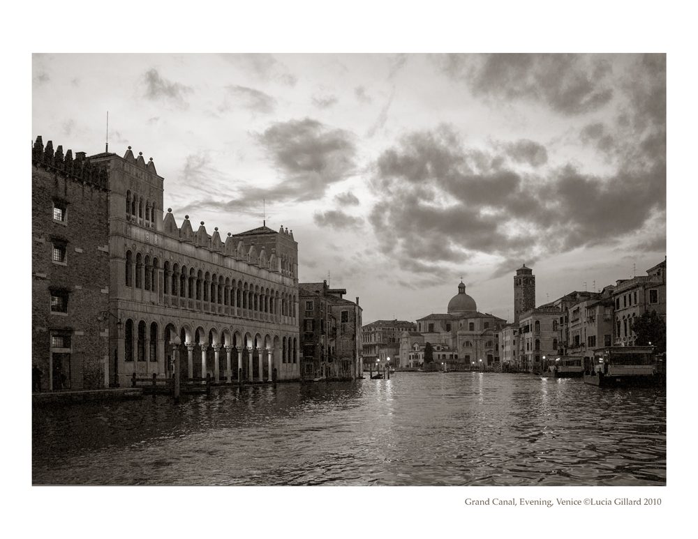 Grand Canal, Evening - Venice in Winter