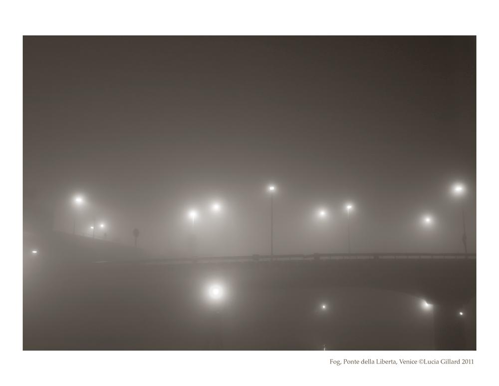 Fog, Ponte della Liberta - Venice in Winter