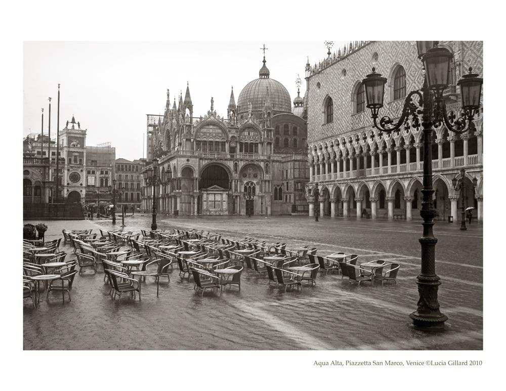 Aqua Alta, Piazzetta San Marco - Venice in Winter